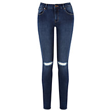 Buy Warehouse Super Soft Skinny Jeans, Mid Wash Denim Online at johnlewis.com