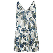 Buy Warehouse Leafy Palm Print Vest, Multi Online at johnlewis.com