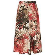 Buy Viyella Petite Floral Palm Linen Skirt, Natural Online at johnlewis.com