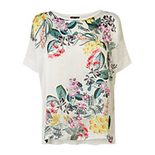 Buy Warehouse Botanical Print Top, White Online at johnlewis.com