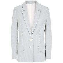 Buy Jaeger Seersucker Jacket, Ivory/Navy Online at johnlewis.com