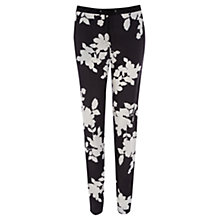 Buy Oasis Eleanor Trousers, Black/White Online at johnlewis.com