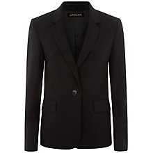 Buy Jaeger Tropical Wool Jacket, Black Online at johnlewis.com