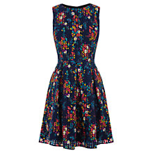 Buy Oasis Poppy Daisy Skater Dress, Navy Online at johnlewis.com
