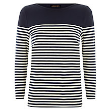 Buy Jaeger Breton Stripe Top, Navy/White Online at johnlewis.com