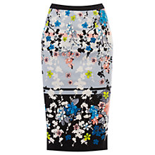 Buy Oasis Oriental Blossom Pencil Skirt, Multi Online at johnlewis.com