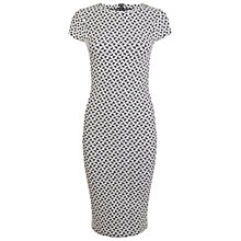 Buy Miss Selfridge Geometric Jacquard Bodycon Midi Dress, Multi Online at johnlewis.com
