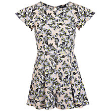 Buy Miss Selfridge Petite Floral Playsuit, Nude Online at johnlewis.com