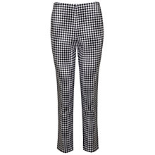 Buy Miss Selfridge Co-Ord Gingham Trousers, Black Online at johnlewis.com