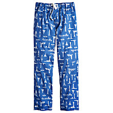 Buy Joules Lighthouse Print Cotton Lounge Pants, Blue Online at johnlewis.com