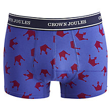 Buy Joules Crown Print Trunks, Blue Online at johnlewis.com