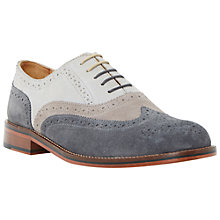 Buy Bertie Suede Colour Block Oxford Brogues, Grey Online at johnlewis.com