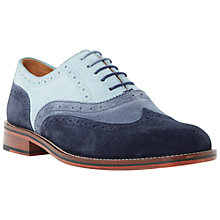 Buy Bertie Suede Colour Block Oxford Brogues, Blue Online at johnlewis.com