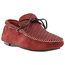 Buy Bertie Benzel Suede Driving Shoes, Burgundy Online at johnlewis.com