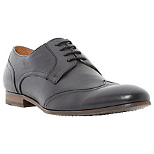 Buy Dune Ravene Leather Derby Shoes, Black Online at johnlewis.com