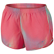 Buy Nike Women's Tempo Printed Shorts, Sunblush Online at johnlewis.com