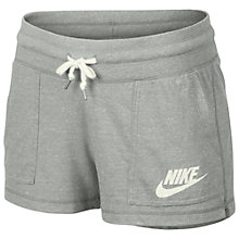Buy Nike Gym Vintage Shorts, Grey Online at johnlewis.com