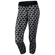 Buy Nike Relay Printed Running Tights, Black/White Online at johnlewis.com