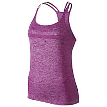Buy Nike Dri-FIT Knit Tank Top, Fuchsia Flash Online at johnlewis.com