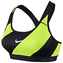 Buy Nike Pro Classic Diagonal Stripe Padded Sports Bra Online at johnlewis.com