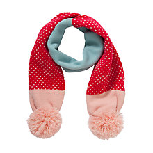 Buy John Lewis Girl Pretty Birdseye Scarf, Pink/Blue Online at johnlewis.com