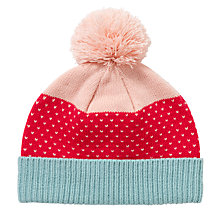 Buy John Lewis Girl Pretty Birdseye Hat, Pink/Blue Online at johnlewis.com