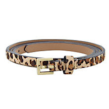 Buy John Lewis Twist Skinny Keeper Belt, Leopard Online at johnlewis.com