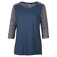 Buy Fat Face Shoulder Button T-Shirt, Dark Chambray Online at johnlewis.com