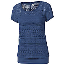 Buy Fat Face Lace 2-in-1 Shell T-shirt, Dark Chambray Online at johnlewis.com