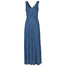 Buy Fat Face Diamond Dash Maxi Dress, Dark Chambray Online at johnlewis.com