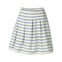 Buy Fat Face Amersham Striped Skirt, Ivory Online at johnlewis.com