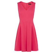 Buy Karen Millen Textured Cotton Blend Dress, Fuchsia Online at johnlewis.com