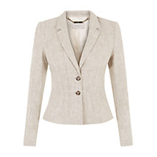 Buy Hobbs Amalia Jacket, Natural Online at johnlewis.com