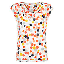 Buy Hobbs Orla Spot Top, Ivory Multi Online at johnlewis.com
