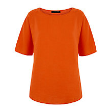 Buy Jaeger Linen Casual T-shirt, Paprika Online at johnlewis.com