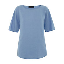 Buy Jaeger Linen Casual T-shirt, Eventide Online at johnlewis.com
