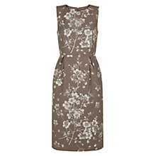 Buy Hobbs Jacquard Dress, Cocoa Beige Online at johnlewis.com
