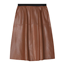 Buy Gerard Darel Auline Skirt, Cognac Online at johnlewis.com