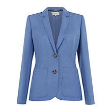 Buy Hobbs Ezra Jacket, Cornflower Online at johnlewis.com
