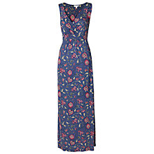 Buy Fat Face Indian Garden Maxi Dress, Dark Chambray Online at johnlewis.com