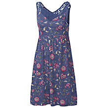 Buy Fat Face Sandford Indian Dress, Dark Chambray Online at johnlewis.com