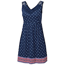 Buy Fat Face Sandford Aadita Border Dress, Indigo Online at johnlewis.com