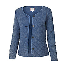 Buy Fat Face Cowdray Quilted Jacket, Denim Online at johnlewis.com