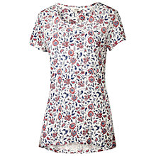 Buy Fat Face Swing Indian Garden Top, Ivory Online at johnlewis.com