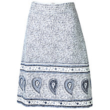 Buy Fat Face Claire Woodblock Skirt, Ivory Online at johnlewis.com