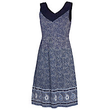 Buy Fat Face Sandford Dress, Navy Online at johnlewis.com