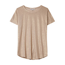 Buy Gerard Darel Linen Accroche-Coeur Top, Sand Online at johnlewis.com