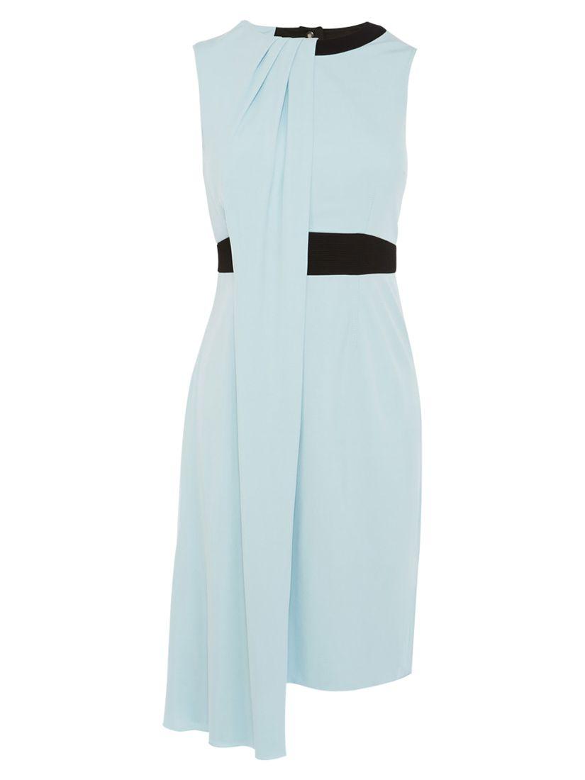 karen millen draped jersey dress pale blue, karen, millen, draped, jersey, dress, pale, blue, karen millen, 8|14|12|10|6|16, women, womens dresses, 1925123