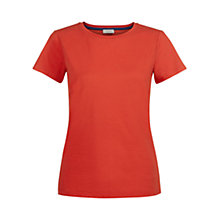 Buy Hobbs Annie T-shirt, Tomato Online at johnlewis.com