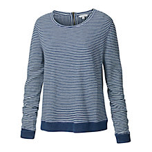 Buy Fat Face Somerville Stripe Zip Jumper, Navy Online at johnlewis.com